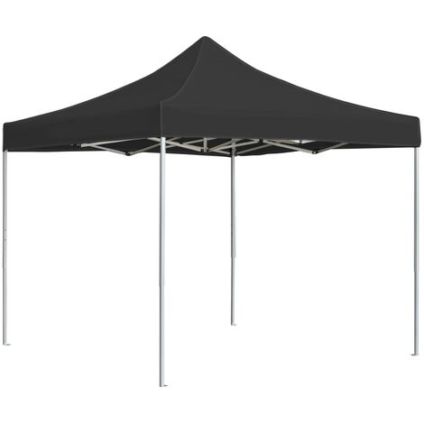vidaXL Professional Folding Party Tent Aluminium 2x2 m Anthracite - Anthracite