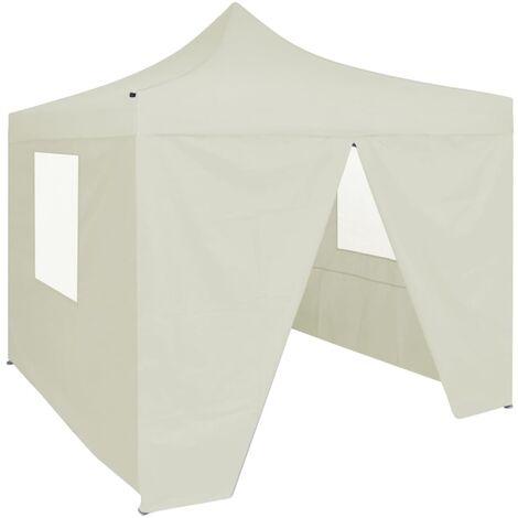 vidaXL Professional Folding Party Tent with 4 Sidewalls 2x2 m Steel Blue - Blue