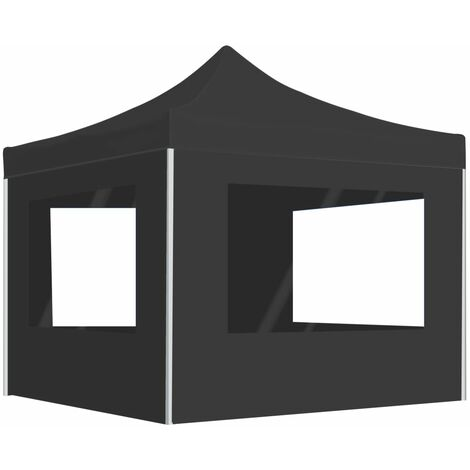 vidaXL Professional Folding Party Tent with Walls Aluminium 2x2 m Anthracite - Anthracite