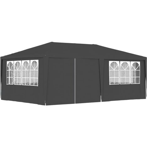 vidaXL Professional Party Tent with Side Walls 4x6 m Anthracite 90 g/m? - Anthracite