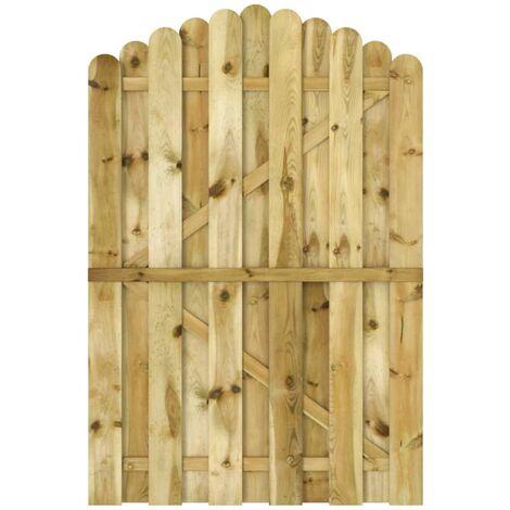 vidaXL Puerta de jardín madera de pino impregnada 100x150 cm - Verde