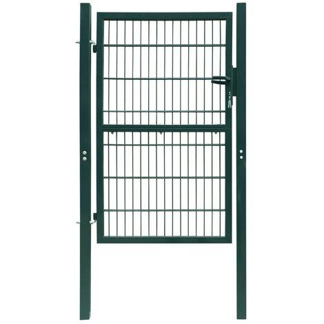 vidaXL Puerta de valla de acero verde 103x250 cm - Verde