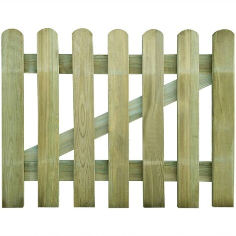 vidaXL Puerta de valla de jardín de madera 100x80 cm - Marrón