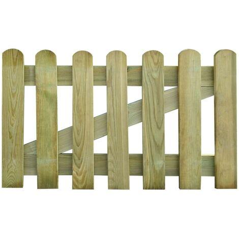 vidaXL Puerta de valla de jardín madera 100x60 cm - Marrón