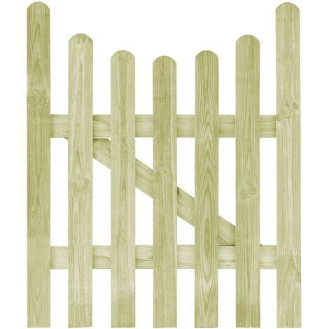 vidaXL Puerta de valla de madera de pino impregnada 100x120 cm - Verde