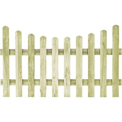 vidaXL Puerta de valla de madera de pino impregnada 170x100 cm - Verde