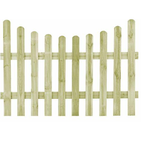 vidaXL Puerta de valla de madera de pino impregnada 170x120 cm - Verde