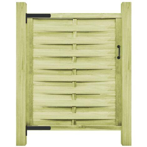 vidaXL Puerta de valla madera de pino impregnada 100x150 cm verde - Verde