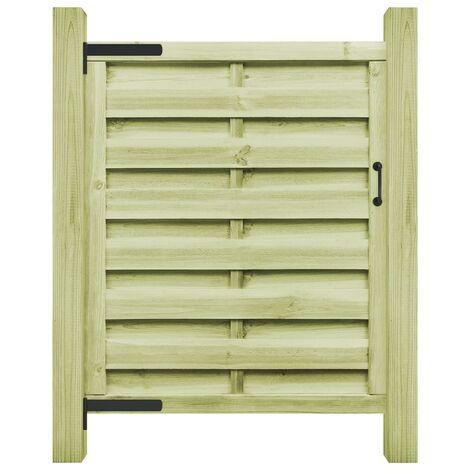"main image of ""vidaXL Puerta de valla madera de pino impregnada verde 100x125 cm - Verde"""