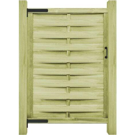 vidaXL Puerta de valla madera de pino impregnada verde 100x175 cm - Verde