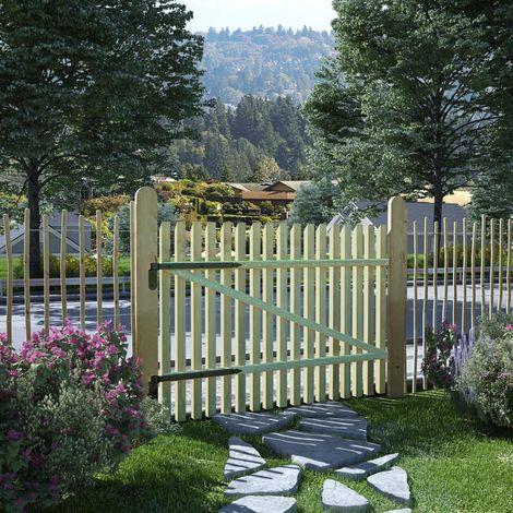 vidaXL Puerta de valla postes madera de pino impregnada FSC 100x75 cm