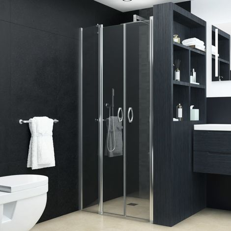 vidaXL Puertas de ducha claras ESG 120x185 cm