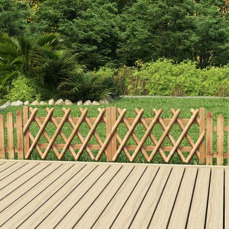 vidaXL Puertas de valla 2 uds madera de pino impregnada 300x60 cm - Marrón