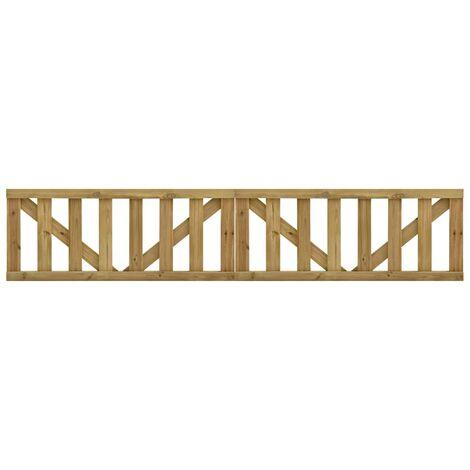 vidaXL Puertas listones jardín 2 uds madera pino impregnada 150x60 cm - Marrón