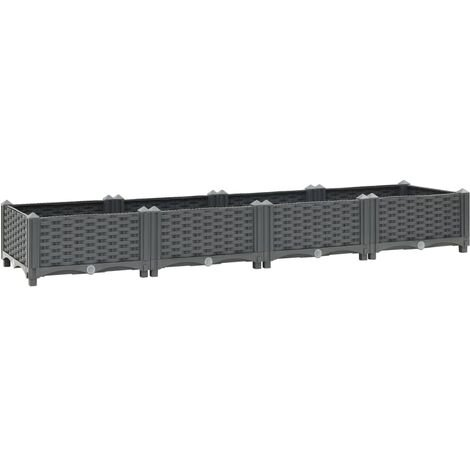 vidaXL Raised Bed 160x40x23 cm Polypropylene - Grey