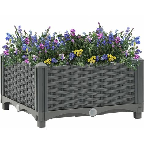 vidaXL Raised Bed 40x40x23 cm Polypropylene - Grey