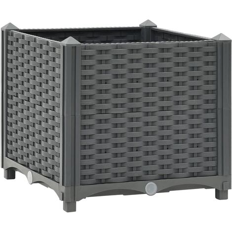vidaXL Raised Bed 40x40x38 cm Polypropylene - Grey