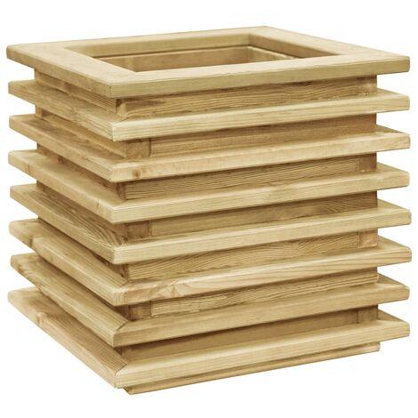 vidaXL Raised Bed 50x50x40 cm Impregnated Pinewood - Brown