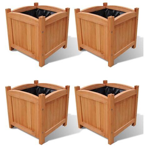 "main image of ""vidaXL Raised Beds 4 pcs 30x30x30 cm (2x41301) - Brown"""