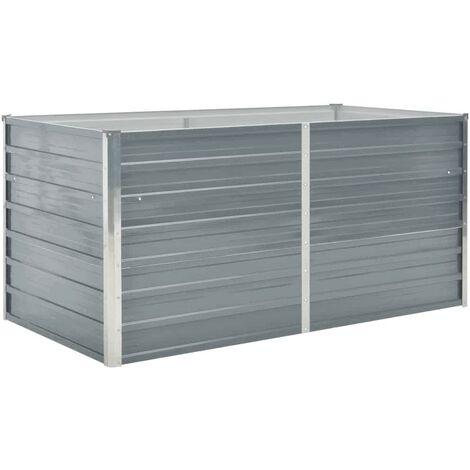 Raised Garden Bed 160x80x77 cm Galvanised Steel Grey