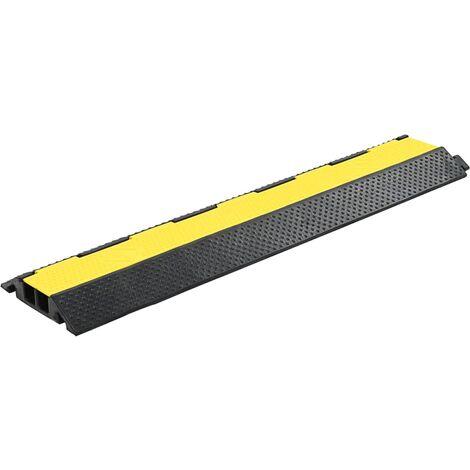 vidaXL Rampas de Protección de Cable Protectores Alambres Tubos Manguitos 1 Canal/2 Canales/3 Canales Goma 100 cm/101.5 cm 2 Piezas/4 Piezas