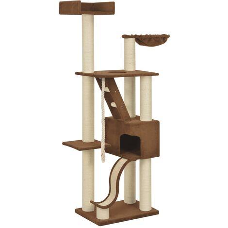 vidaXL Rascador para gatos con postes de sisal beige 180 cm XXL - Beige