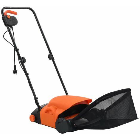 vidaXL Rastrillo eléctrico de césped 20 L 400 W - Naranja