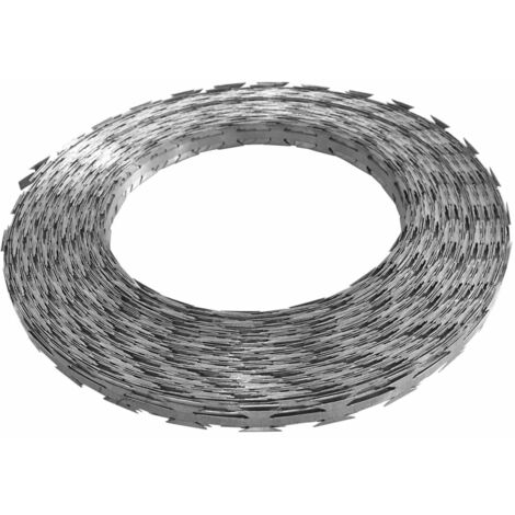 vidaXL Razor Concertina Wire Galvanised Steel 500 m