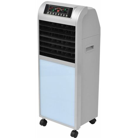 vidaXL Refrigerador de aire 120 W 8 L 385 m³/h 37,5x35x94,5 cm - Plateado