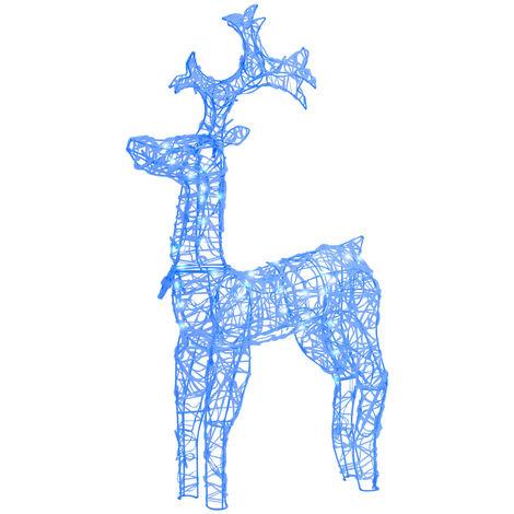 "main image of ""vidaXL Reindeer Christmas Decoration 90 LEDs 60x16x100 cm Acrylic - Blue"""