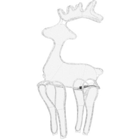 "main image of ""vidaXL Reindeer Christmas Decoration with Mesh 306 LEDs 60x24x89cm - White"""