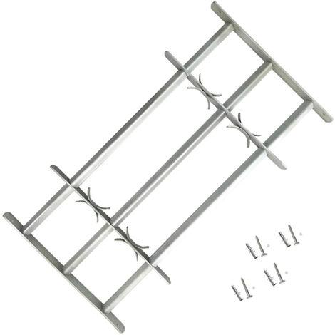 VidaXL Reja de seguridad ajustable ventana con 3 barras 1000-1500mm