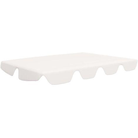 vidaXL Replacement Canopy for Garden Swing 270 g/m² Cream 226x186 cm - Cream