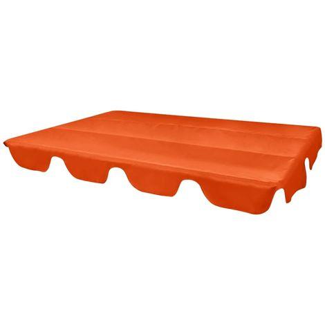 vidaXL Replacement Canopy for Garden Swing Orange 226x186 cm - Orange
