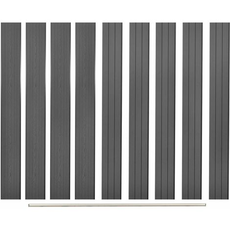 vidaXL Replacement Fence Boards 9 pcs WPC 170 cm Grey - Grey