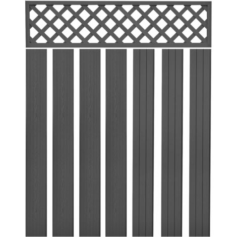 vidaXL Replacement Fence Boards WPC 7 pcs 170 cm Grey - Grey