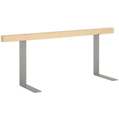 vidaXL Respaldo para sofá de palés madera maciza de pino 110 cm - Marrón