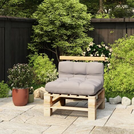 vidaXL Respaldo para sofá de palés madera maciza de pino 70 cm - Marrón