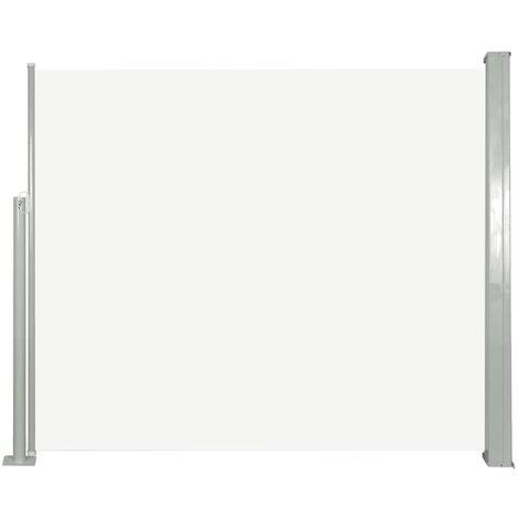 vidaXL Retractable Side Awning 140 x 300 cm Grey - Grey