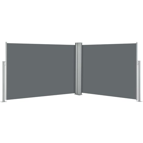 vidaXL Retractable Side Awning Anthracite 120x1000 cm - Anthracite