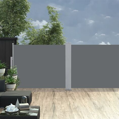 vidaXL Retractable Side Awning Anthracite 170x1000 cm - Anthracite