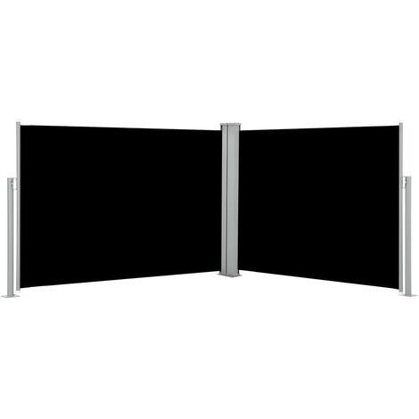 vidaXL Retractable Side Awning Black 100x1000 cm - Black