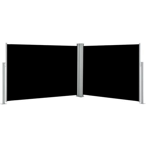 vidaXL Retractable Side Awning Black 120x1000 cm - Black