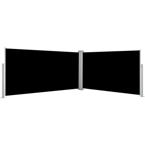 vidaXL Retractable Side Awning Black 160x600 cm - Black