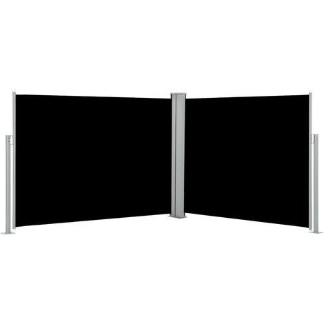 vidaXL Retractable Side Awning Black 170x1000 cm - Black