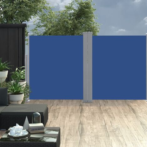 vidaXL Retractable Side Awning Blue 140x600 cm - Blue