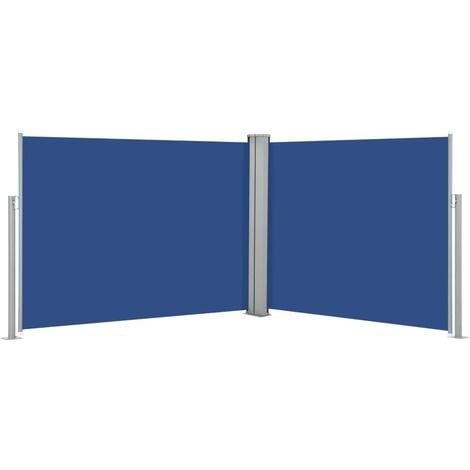 vidaXL Retractable Side Awning Blue 170x1000 cm - Blue