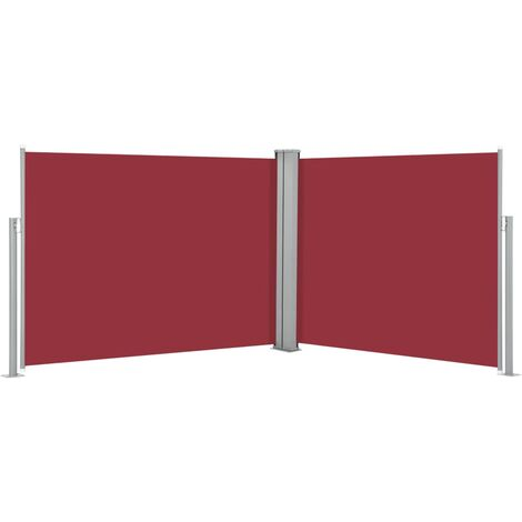 vidaXL Retractable Side Awning Red 170x1000 cm - Red