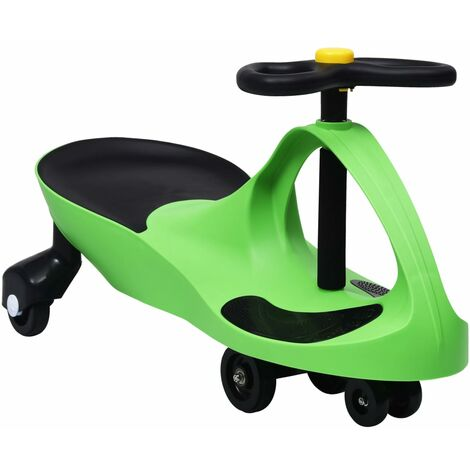 vidaXL Ride on Toy Wiggle Car Swing Car with Horn Green - Green