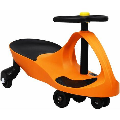 vidaXL Ride on Toy Wiggle Car Swing Car with Horn Orange - Orange